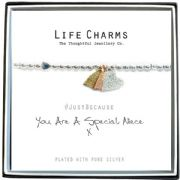 Life Charms Special Niece Silver Plated Bracelet
